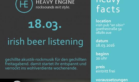 Irish Beer Listening | 18.03.16